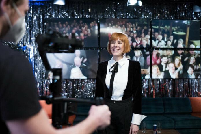 Pia Hierzegger als Moderatorin