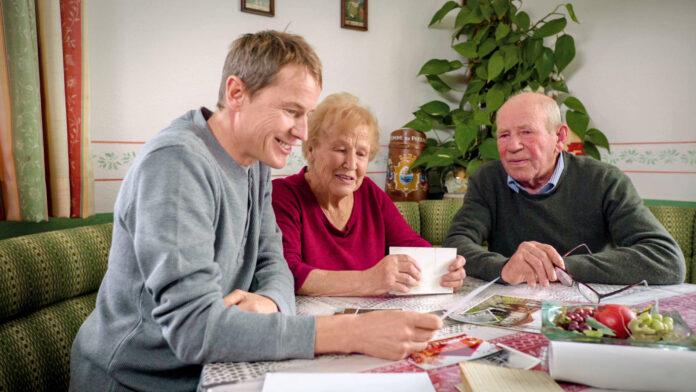 Andreas Goldberger mit seinen Eltern