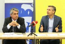 FPÖ-Klubobmann Herwig Mahr und OÖVP-Landesgeschäftsführer Wolfgang Hattmannsdorfer, aufgenommen im Herbst 2019