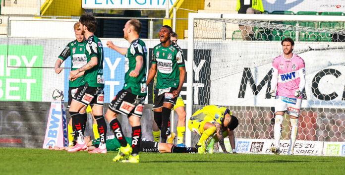 Die SV Ried jubelte am Samstag über einen 2:1-Erfolg gegen St. Pölten und machte damit einen großen Schritt in Richtung Klassenerhalt.