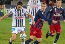 James Holland (l.) war bislang der einzige LASK-Torschütze in zwei Saisonduellen gegen den SK Rapid.