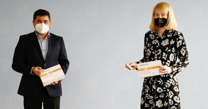 Bgm. Christoph Schragl und LH-Stv. Christine Haberlander