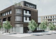 Nachhaltigkeit gebaut und mit eigenem Holz verziert: Das künftige Prunkstünck von Team7 in Ried