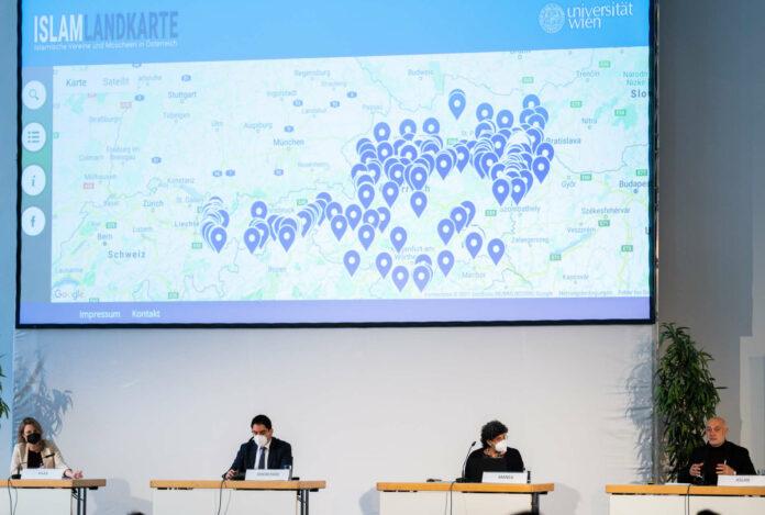 """Am Donnerstag wurde """"www.islam-landkarte.at"""" von der """"Dokumentationsstelle politischer Islam """" präsentiert."""