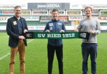 Die SV Guntamatic Ried setzt auch weiter auf Trainer Andreas Heraf (M./im Bild mit Geschäftsführer Rainer Wöllinger und dem Sportlichen Leiter Wolfgang Fiala/r.).