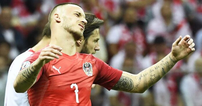 Die Übertragung des Spiels der österreichischen Nationalmannschaft rund um Marko Arnautovic (r.) gegen die Niederlande könnte heuer nur bis zur Halbzeit stattfinden.