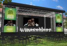 Virtuelle Darstellung der Bühne im Park des Linzer Schlosses