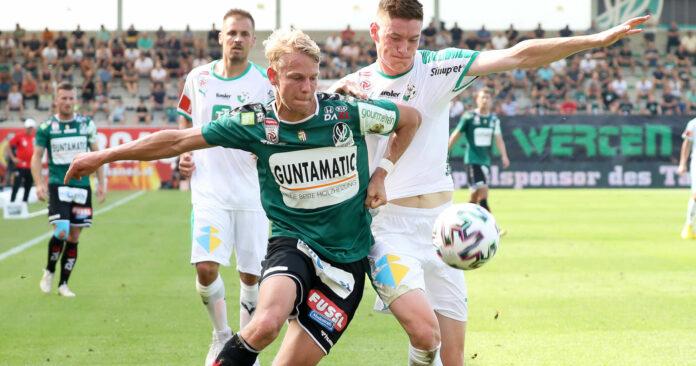 Beim Abschied von Marco Grüll (Bild/l.), der zur Rapid wechselt, dürfen am Freitag exakt 2.640 Zuschauer in die Rieder josko-Arena.