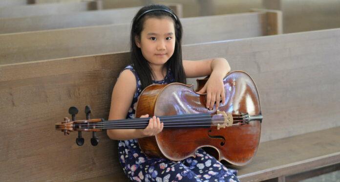 Mit sieben schon ein kleiner Star: Kanon Huang aus Linz.