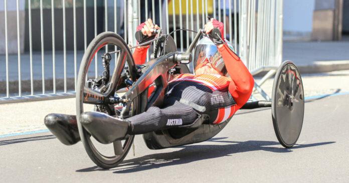 Volle Kraft voraus: Walter Ablinger kurbelte auf seinem neuen Bike was ging und holte sich EM-Gold im Zeitfahren.
