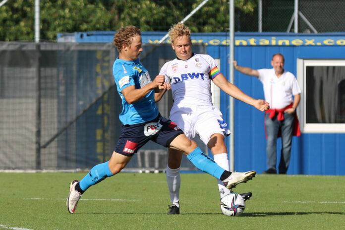 Defensiv soll bei den Juniors OÖ (r./Benjamin Wallquist) wie beim Test gegen Gurten (1:0) auch gegen Lafnitz die Null stehen.
