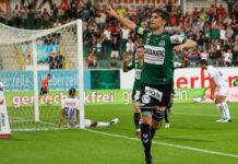 Ante Bajic (gr. Bild) und Daniel Offenbacher (kl. Bild) schossen die Rieder zum 2:1-Erfolg gegen die Austria.