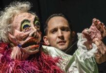 Madame nimmt sich kein Blatt vor den Mund: Puppenspieler Nikolaus Habjan mit der fabelhaften Lady Bug.
