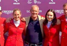 Stefan Eder, Katharina Rhomberg, Roland Fischer, Alessandra Reich und Gerfried Puck (v.l.) ritten in Warschau sensationell auf Platz drei.
