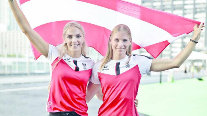 Ivona Dadic (l.) und Verena Mayr (vorm. Preiner) versuchen das nächste Edelmetall für Österreich zu holen.