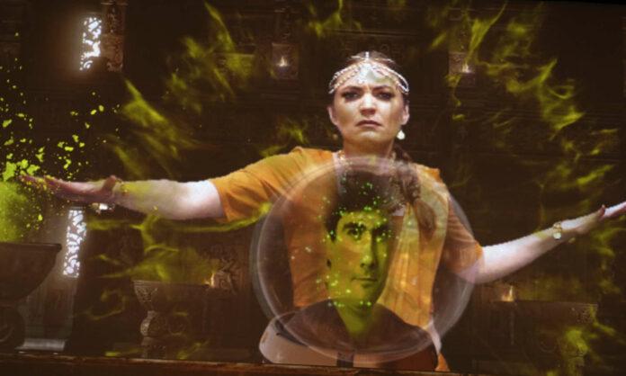 Amelie Müller als Laodice auf dem Bildschirm