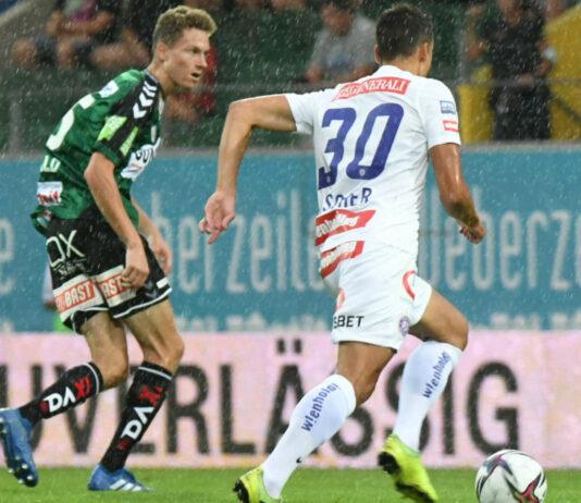 Felix Seiwald (l.) etablierte sich bei Ried in der Bundesliga. Heute geht es im Cup gegen Steyr, wo er im Frühjahr kickte.