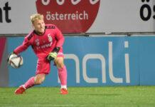 Juniors-Keeper Florian Gruber (18) hatte bei seinem unverhofften Debüt alles im Griff, spielte fehlerlos.