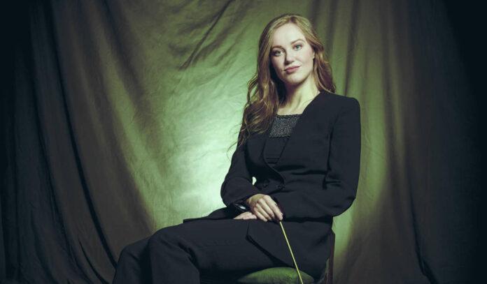 Sie ist 31 Jahre alt und kann schon beeindruckende Erfahrung als Dirigentin vorweisen: die Litauerin Giedre Slekyte.