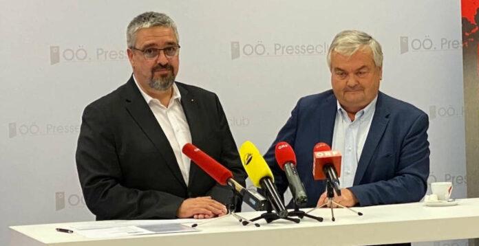 Andreas Stangl (l.) folgt Johann Kalliauer in der Arbeiterkammer als Präsident, seine Wahl in der Vollversammlung gilt als gesichert, weil die FSG dort eine absolute Mehrheit hat. Kalliauer hatte am Montag bekannt gegeben, dass er nach 18 Jahren seine Funktion zurücklegen werde.